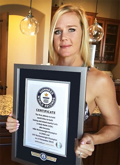 Holly Holm GWR certificate