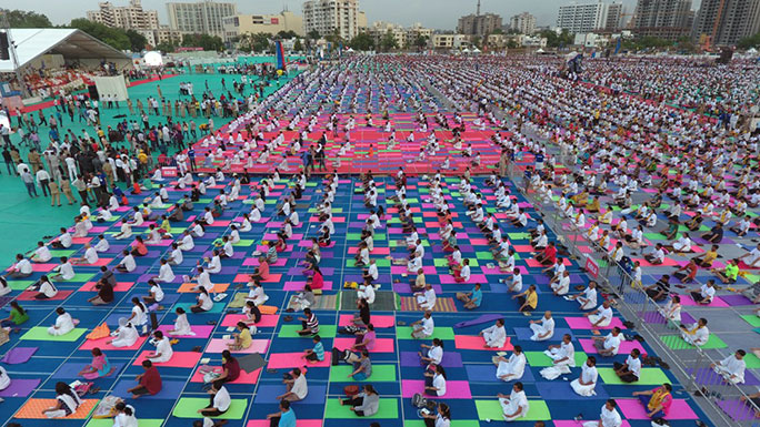 Largest yoga class