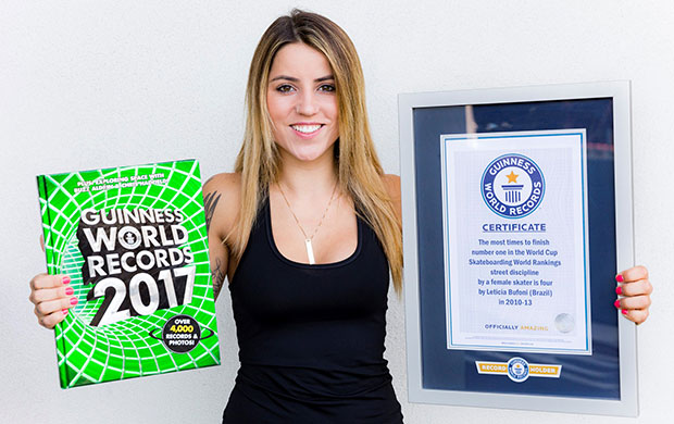 Leticia Bufoni and GWR certificate