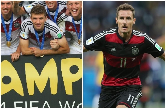 Thomas Mueller and Miroslav Klose