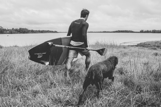 Longest Stand Up Paddleboard ride on a river bore by a human/dog pair 10