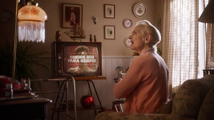 Old Spice longest TV commercial old woman