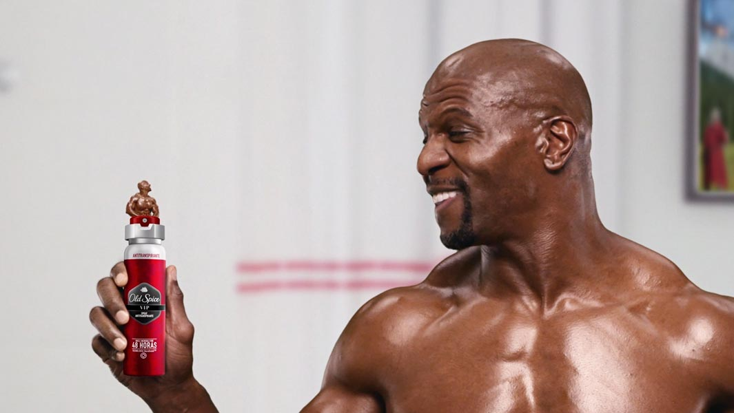 Terry Crews in the new Old Spice advert which is the longest TV commercial