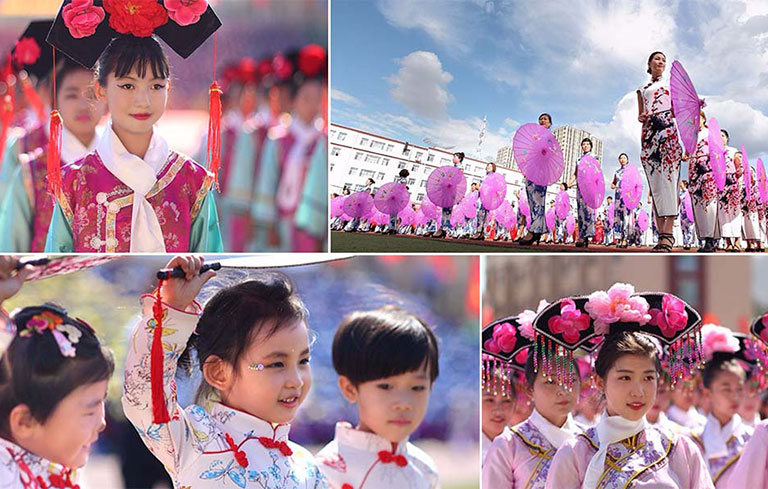 Largest gathering of people wearing cheongsam